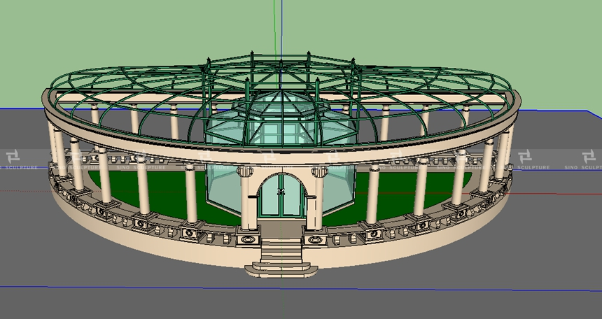 3D Render of the stainless steel structure London UK